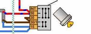 Схема подключения проводов замка зажигания нива6